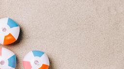 Beach Ball on Sand  image 9