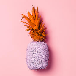 Colorful Pineapple on Pink Background  image 16