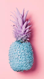 Colorful Pineapple on Pink Background  image 25