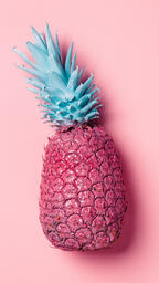 Colorful Pineapple on Pink Background  image 17