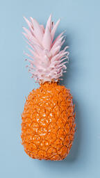 Colorful Pineapple on Blue Background  image 6