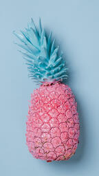 Colorful Pineapple on Blue Background  image 3
