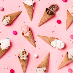 Ice Cream Cones on Pink Background  image 16