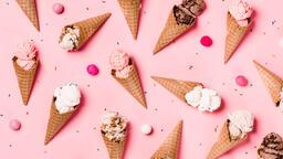Ice Cream Cones on Pink Background  image 8