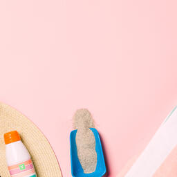 Beach Day Supplies on Pink Background  image 11