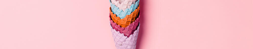 Colorful Ice Cream Cones Stacked large preview