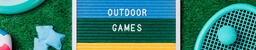Outdoor Games Letter Board with Game Supplies on Grass  image 4