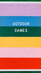 Outdoor Games Letter Board on Grass  image 5