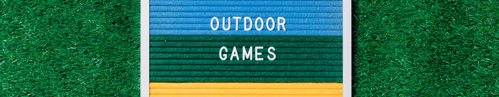 Outdoor Games Letter Board on Grass large preview