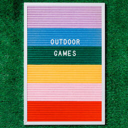 Outdoor Games Letter Board on Grass  image 2