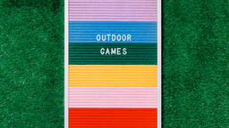 Outdoor Games Letter Board on Grass  image 3