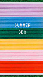 Summer BBQ Letter Board on Grass  image 3