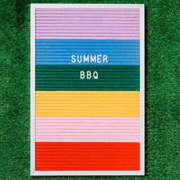 Summer BBQ Letter Board on Grass  image 1