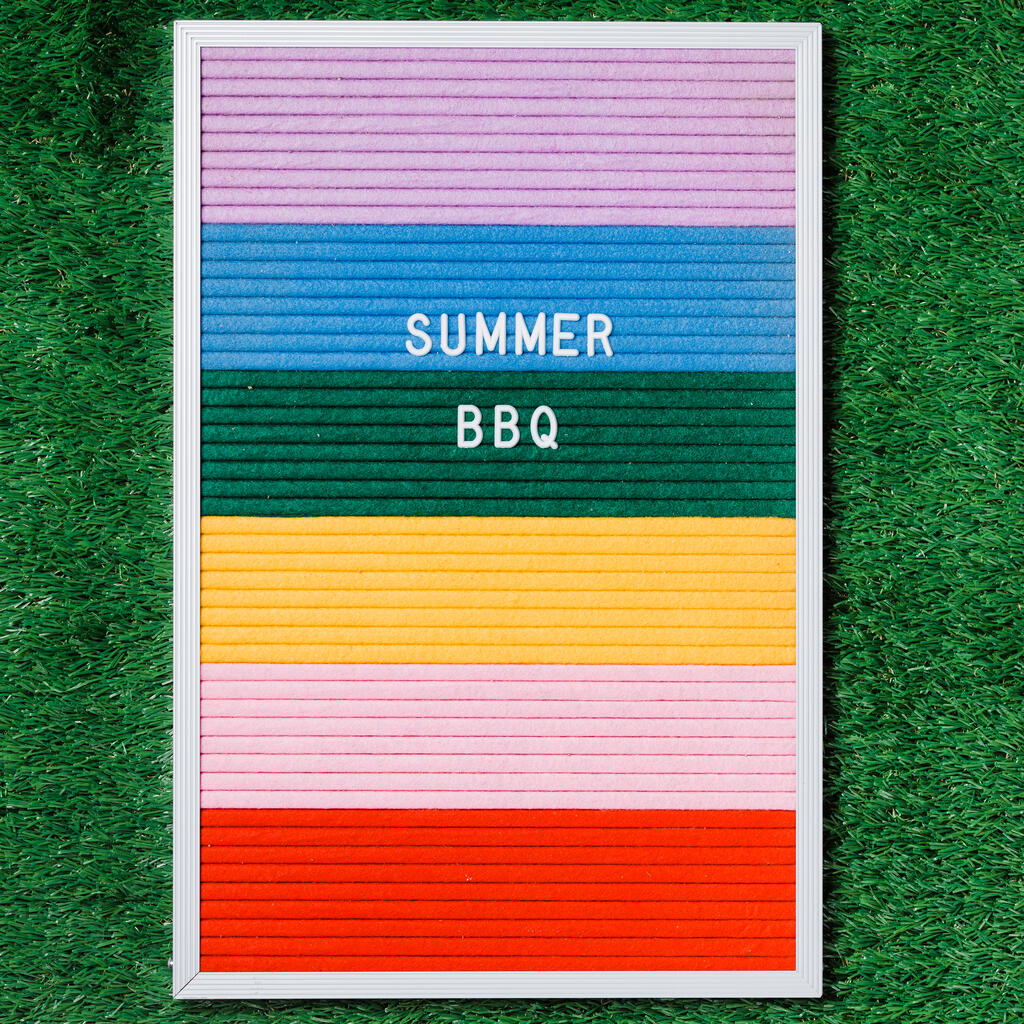 Summer BBQ Letter Board on Grass large preview
