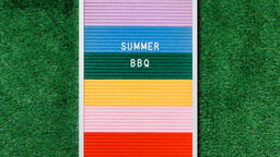 Summer BBQ Letter Board on Grass  image 4