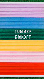 Summer Kickoff Letter Board on Grass  image 4