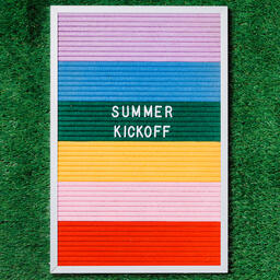 Summer Kickoff Letter Board on Grass  image 5