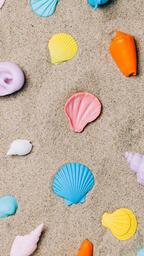 Painted Sea Shells on Sand  image 11