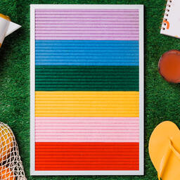 Letter Board with Summer Supplies on Grass  image 8