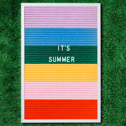 It's Summer Letter Board on Grass  image 1