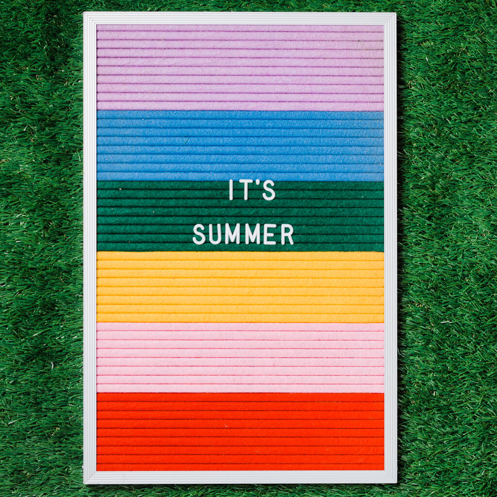 It's Summer Letter Board on Grass large preview