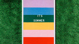 It's Summer Letter Board on Grass  image 3