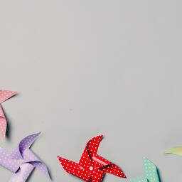 Pinwheels on Gray Background  image 16