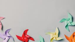Pinwheels on Gray Background  image 15