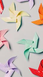 Pinwheels on Gray Background  image 2