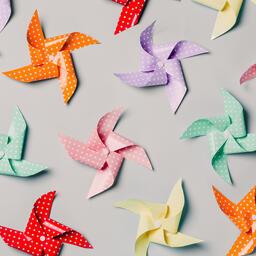 Pinwheels on Gray Background  image 13