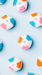 Beach Balls on Blue Background  image 5