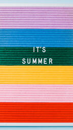 It's Summer Letter Board on Blue Background  image 3