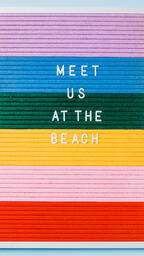 Meet Us at the Beach Letter Board on Blue Background  image 4