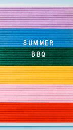 Summer BBQ Letter Board on Blue Background  image 3
