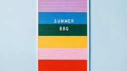 Summer BBQ Letter Board on Blue Background  image 5