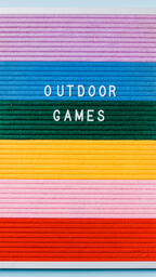 Outdoor Games Letter Board on Blue Background  image 5