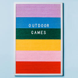 Outdoor Games Letter Board on Blue Background  image 3