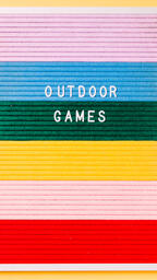 Outdoor Games Letter Board on Yellow Background  image 3