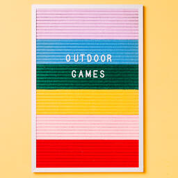 Outdoor Games Letter Board on Yellow Background  image 5