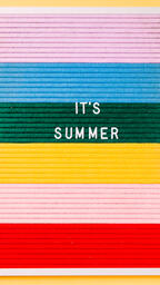 It's Summer Letter Board on Yellow Background  image 4