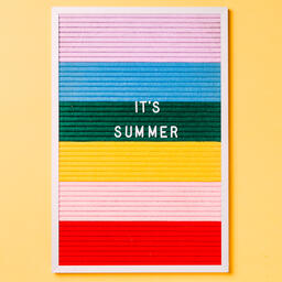 It's Summer Letter Board on Yellow Background  image 3