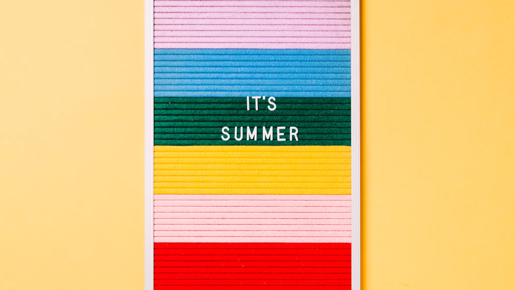It's Summer Letter Board on Yellow Background large preview