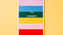 It's Summer Letter Board on Yellow Background  image 1
