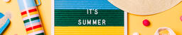 It's Summer Letter Board with Beach Day Supplies on Yellow Background  image 4