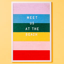 Meet Us at the Beach Letter Board on Yellow Background  image 4