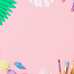 Painting Sea Shells on Pink Background  image 3