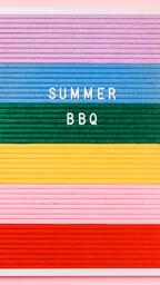 Summer BBQ Letter Board on Pink Background  image 1