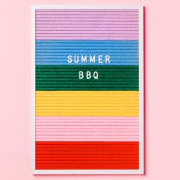 Summer BBQ Letter Board on Pink Background  image 4