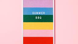 Summer BBQ Letter Board on Pink Background  image 2