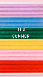 It's Summer Letter Board on Pink Background  image 4